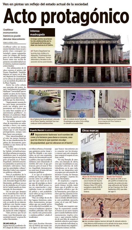 Acto protagónico – Tesis de sociología del graffiti en